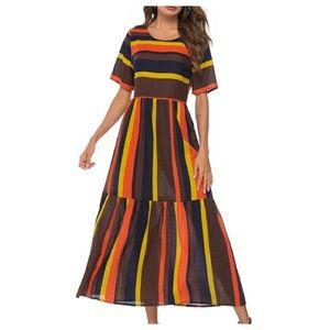 Dresses & Skirts - ➕Striped Ruffle Hem Maxi